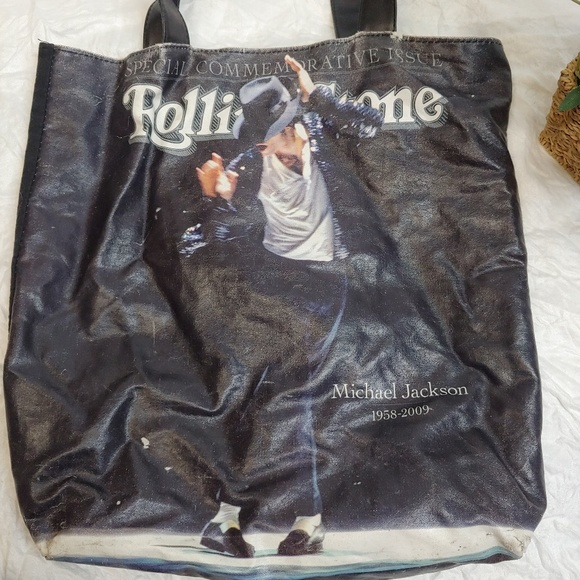 the Rolling Stones Handbags - Michael Jackson Rolling Stone Tote Bag